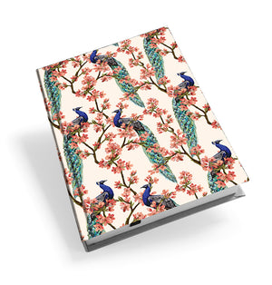 Oriental Peacock Hardback Journal<br>(Pack of 5)