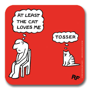 At least the cat love me Coaster<br>(Pack of 10)