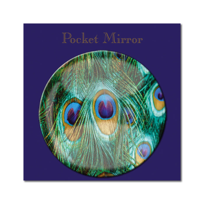 Peacock Feathers Pocket Mirror<br>(Pack of 10)