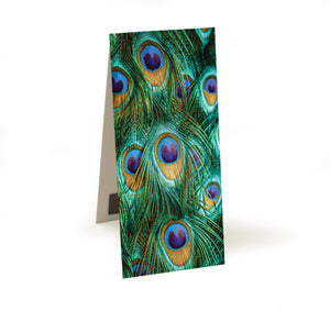 Peacock Feathers Magnetic Bookmark<br>(Pack of 20)