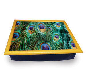 Peacock Feathers Cushion Tray<br>(Pack of 2)