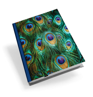 Peacock Feathers Hardback Journal<br>(Pack of 5)