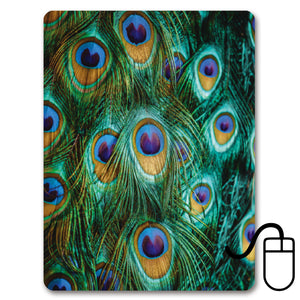 Peacock Feathers Mini Mousemat<br>(Pack of 5)