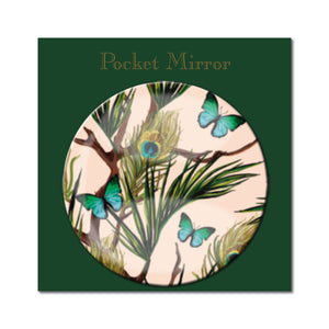 Peacocks and Butterflies Pocket Mirror<br>(Pack of 10)