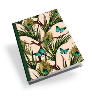 Peacocks and Butterflies Hardback Journal<br>(Pack of 5)