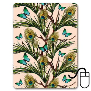 Peacocks and Butterflies Mini Mousemat<br>(Pack of 5)