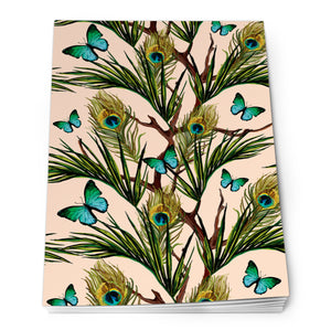 Peacock and Butterflies - Notepad<br>(Pack of 10)