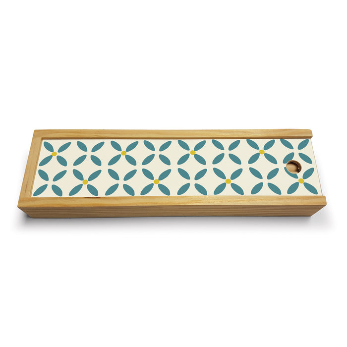 Teal Daisy Wooden Pencil Set<br>(Pack of 5)