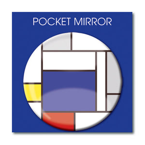 Large Blue Block Pocket Mirror<br>(Pack of 10)