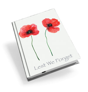 Two Poppies Hardback Journal<br>(Pack of 5)