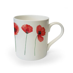 Poppies Collection - Bone China Mug<br>(Pack of 6)