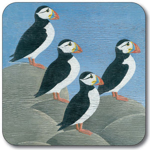 Puffins On Rocks Potstand<br>(Pack of 5)