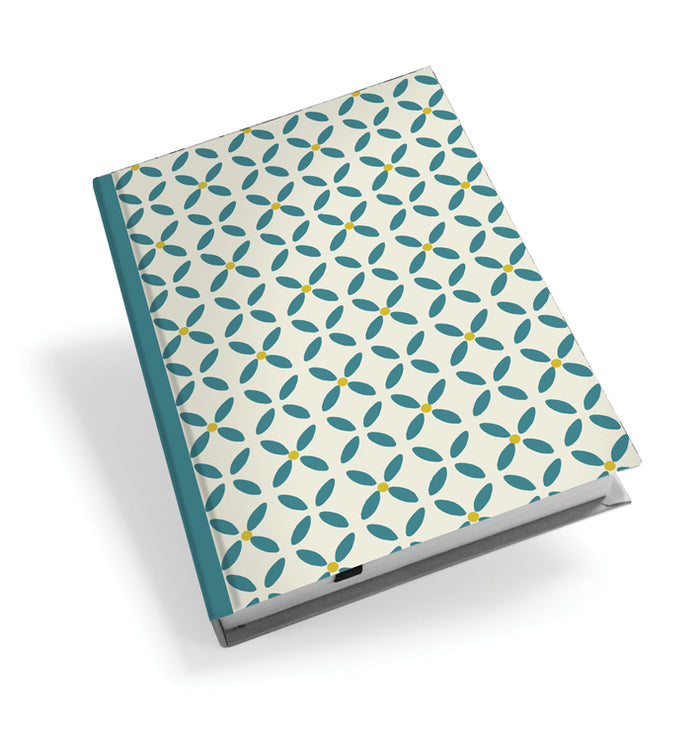 Teal Daisy Hardback Journal<br>(Pack of 5)