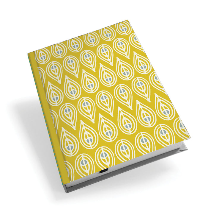 Yellow Leaf Hardback Journal<br>(Pack of 5)
