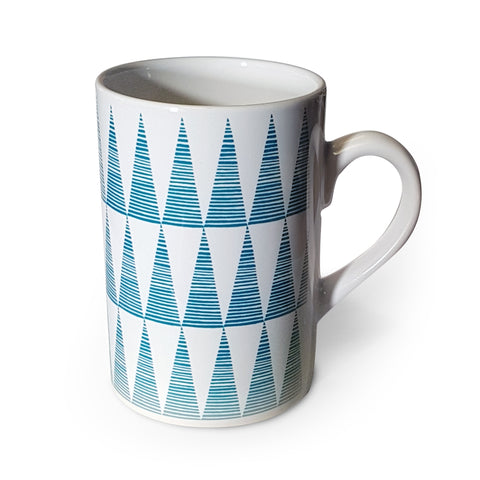 Tall Teal Triangles Triangles Mug<br>(Pack of 6)