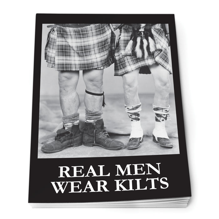 Real mean wear kilts Notepad A7<br>(Pack of 10)