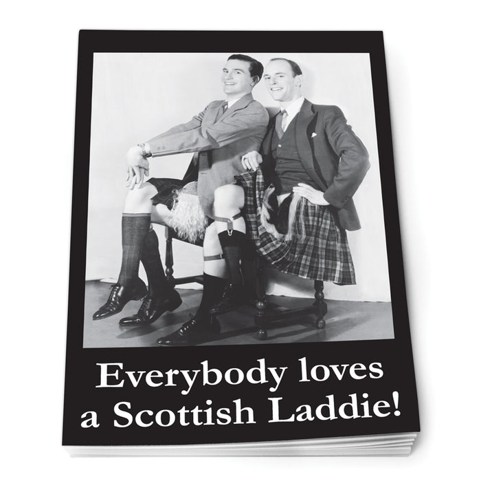 Everybody loves a Scottish laddie Notepad A7<br>(Pack of 10)
