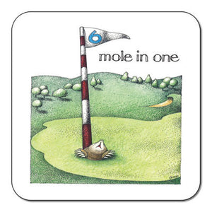 Golf Mole In One  Coaster<br>(Pack of 10)