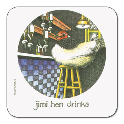 Jimi Hen Drinks  Coaster<br>(Pack of 10)