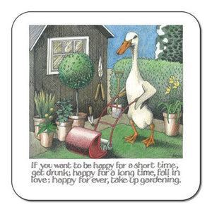 If you want to be Happy Take Up Gardening  Coaster<br>(Pack of 10)