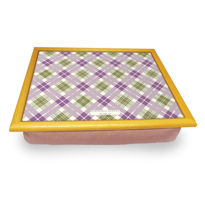 Pink Tartan Cushion Trays<br>(Pack of 2)