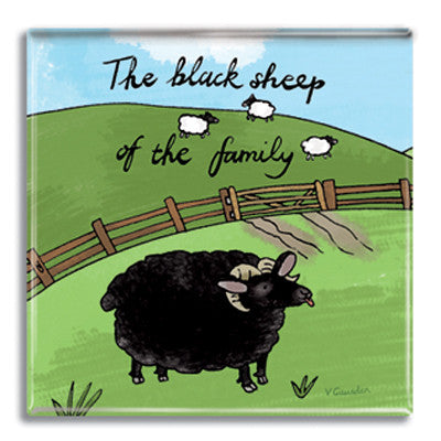 Black Sheep Fridge Magnet<br>(Pack of 10)