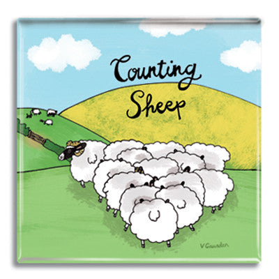 Counting Sheep  Fridge Magnet<br>(Pack of 10)