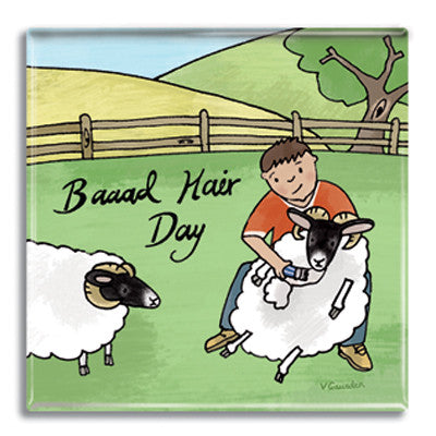 Baaad Hair Day Fridge Magnet<br>(Pack of 10)