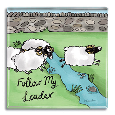 Follow My Leader  Fridge Magnet<br>(Pack of 10)