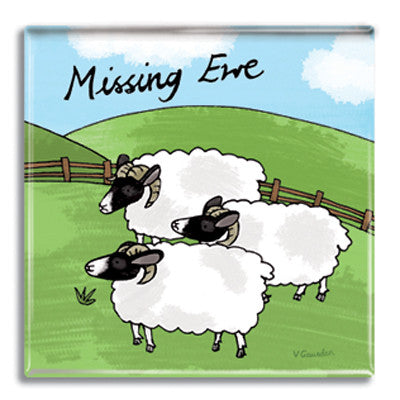 Missing Ewe  Fridge Magnet<br>(Pack of 10)