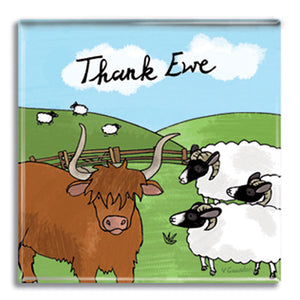 Thank Ewe  Fridge Magnet<br>(Pack of 10)