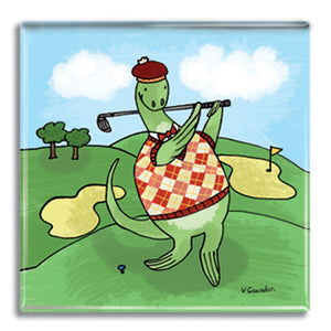 Nessie Golf  Fridge Magnet<br>(Pack of 10)