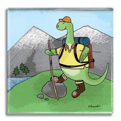 Nessie Hiking  Fridge Magnet<br>(Pack of 10)