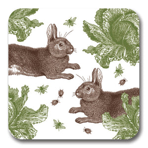 Rabbit and Cabbage Potstand<br>(Pack of 5)