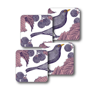 Blackbird and Bramble Coaster Set of 4<br>(Pack of 4)