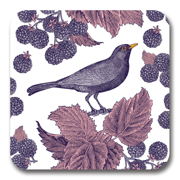 Blackbird and Bramble Potstand<br>(Pack of 5)