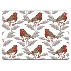 Robin and Holly Tablemat Set of 4<br>(Pack of 2)