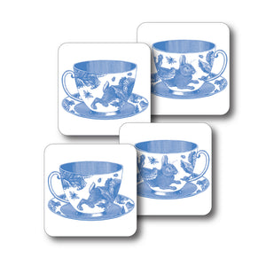Teacups Coaster Set of 4<br>(Pack of 4)