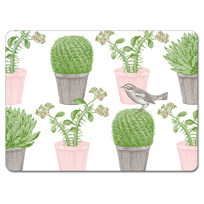 Cactus and Bird Tablemat Set of 4<br>(Pack of 2)