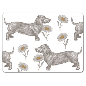 Dog and Daisy Tablemat Set of 4<br>(Pack of 2)