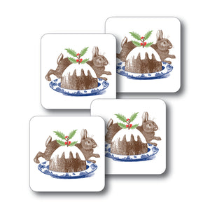Christmas Pudding Coaster Set of 4<br>(Pack of 4)