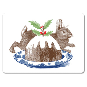 Christmas Pudding Tablemat Set of 4<br>(Pack of 2)