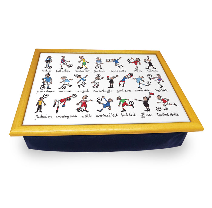 Football  Cushion Tray<br>(Pack of 2)