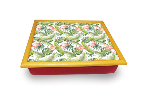 Flamingo with Leaf Background Cushion Tray<br>(Pack of 2)