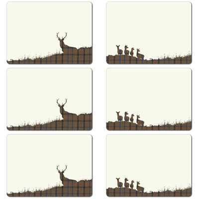 Stag and Hinds Tablemat Set<br>(Pack of 10)