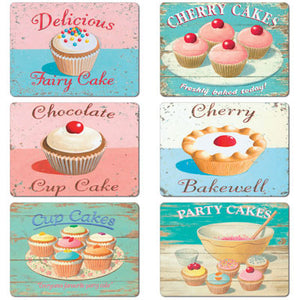 Fairy Cakes Tablemat set of 6<br>(Pack of 2)