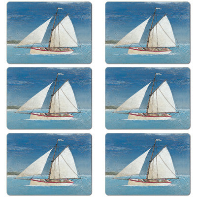 Sail Boat Tablemat set of 6<br>(Pack of 2)