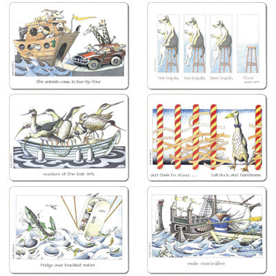 4x4, Tequila, Waders, Tall Duck, Fridge, Mole - Tablemat set of 6<br>(Pack of 2)