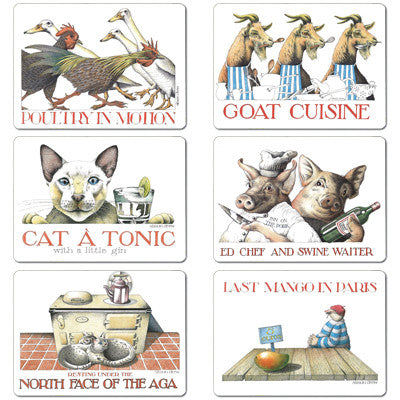 Poultry, Goat, Catatonic, Ed Chef, Aga, Mango - Tablemat set of 6<br>(Pack of 2)