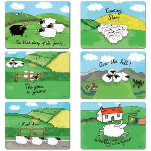 Sheep Tablemat Set of 6<br>(Pack of 2)